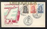 Luxemburg Mi # 555/57 Europa 1956 auf Ersttagsbrief FDC (44288)