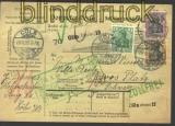 dt Reich Auslands-Paketkarte Mi # 85, 88 + 91 I (11243)