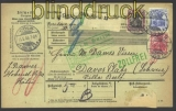 dt Reich Auslands-Paketkarte Mi # 72, 76 + 86 I (11251)
