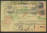 Dt. Reich Auslands-Paketkarte Köln 4.6.1909 (22174)