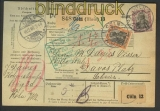 Dt. Reich Auslands-Paketkarte Köln 18.12.1906 (22175)