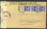 Bi-Zone Mi # 9 MeF (3) Auslands-Zensur-Brief 1.7.1945 (13967)