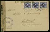 Bi-Zone Mi # 9 MeF auf Auslands-Zensur-Brief (3478)