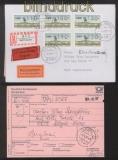 Berlin ATM 1987 Mi # 1 Versandstellensatz 1 komplett auf 3 FDC Ersttagsbriefen (42741)