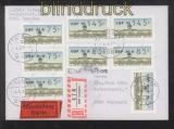 Berlin ATM 1987 Mi # 1 Versandstellensatz 2 komplett auf FDC Ersttagsbrief (42744)