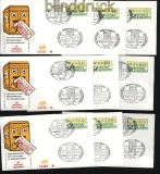 Bund ATM 1981 Mi # 1 Versandstellensatz 1 auf Ersttagsbrief FDC (28230)