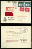 Bund Eilboten-Einschreiben-Postkarte Frankfurt 1959 (35067)