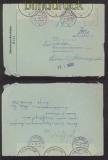 Bund Fernbrief OFD Kiel  Nachsendevermerk amtlich verschlossen 1960 (42693)