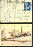 DDR Mi # 296 EF auf AK Halle/Saale 20.12.1951 (17512)