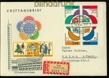 DDR Mi # 901/04 4er-Block mit 905/06 auf E-Brief(3249)