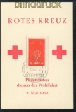 Saarland Mi # 318 Rotes Kreuz auf FDC-Karte  (43833)