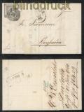 Baden Mi #  5 EF Fernbrief Nummernstempel 28 DURLACH 1860 (43487)
