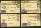 Bayern acht NN-Postkarten aus 1901 bis 1904 Augsburg (41323)
