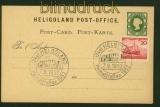 Helgoland GSK Mi # P 1 mit Bund Mi # 152 SSt. 1952 (41828)