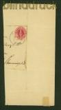 Schleswig-Holstein Mi # 8 gestempelt Heide auf großem Briefstück (41016)