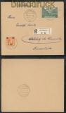 Luxemburg Mi # 18 und 32 auf R-Brief 5.3.1941 nach Adelsberg (44005)