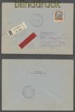 Luxemburg Mi # 16 EF Eil-R-Brief 31.3.1941 nach Wilthen (43008)