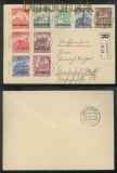 Luxemburg Mi # 33/41 auf Satz-R-Brief 10.6.1941 nach Bielefeld (44008)