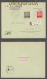 Luxemburg Mi #  7 + 11 MiF R-Brief 19.8.1941 nach Konz (43012)