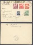Luxemburg Mi # 33/41 auf 2 Satz-R-Briefen 10.9.1941 nach Linz (43003)