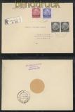 Luxemburg Mi #  8 + 10 MiF mit Reich R-Brief 1941 nach Konz (43016)