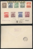 Luxemburg Mi # 33/41 auf Satz-R-Brief 28.3.1941 nach Hamburg (43010)