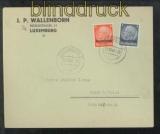Luxemburg Mi #  2 + 5 MiF Fernbrief 20.10.19401 nach Konz (43023)