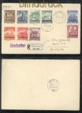 Luxemburg Mi # 33/41 auf Satz-R-Brief 18.3.1941 nach Berlin (43011)