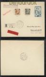 Luxemburg Mi # 18, 22 + 32 MiF Eil-R-Brief 31.3.1941 nach Rain (43024)