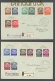 Luxemburg Mi #  1/16 auf 2 Satz-Briefen 3.10.1940 nach Reutlingen (43026)