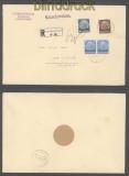 Luxemburg Mi #  2, 6 + 9 (2) MiF R-Brief 26.10.1940 nach Konz (43002)