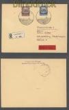 Luxemburg Mi #  6 + 15 MiF Eil-R-Brief SSt. 4.11.1941 nach Reichenberg (43007)