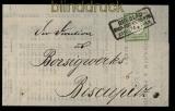 dt. Reich Mi # 17 a EF auf Drucksache Breslau nach Biskupitz (31340)