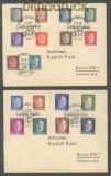Ukraine Mi # 1/18 auf 2 Briefen Sonderstempel Rowno Tag der Briefmarke 1942 (42975)