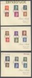 Ukraine Mi # 1/18 auf 3 Briefen Rowno DDP Ukraine 5.2.1943 (42977)