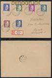 Ukraine Mischfrankatur auf Fernbrief Rowno 29.6.1942 (42985)