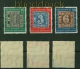 Bund Mi #  113/15 mit 114 II postfrisch geprüft Schlegel BPP (40111)
