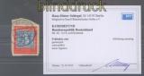 Bund Mi #  114 II gestempelt auf Briefstück Kurzbefund Schlegel BPP (43568)