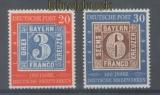 Bund Mi #  114 und 115 postfrisch 100 J. Briefmarken (44489)