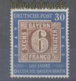 Bund Mi #  115 30 Pfg. 100 J. Briefmarken postfrisch (35666)