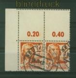 franz. Zone Württemberg Mi # 14 gestempelt waagerechtes Paar mit Leerfeld (34841)(34841)