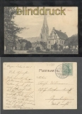 LINGEN a. d. Ems sw-AK Blick auf die kath. Kirche 1908 (d7358)