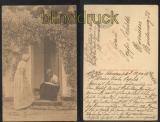 Alfred Broge sw-AK Küntlerkarte Sommerferien Bahnpost Feldpost 1916 Zensur (d6988)