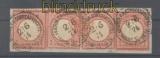 Deutsche Post Türkei Mi # V 19 (4) gestempelt Briefstück (43554)