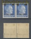 dt. Besetzung 2. WK Kurland Mi # III/I Typenpaar Aufdruckmarke postfrisch gepr. van Loo (43690)