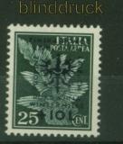 dt. Besetzung 2. WK Laibach Mi # 39 Aufdruckmarke postfrisch (34584)