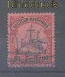 Deutsch-Ostafrika Mi # 37 gestempelt 60 Heller Schiffszeichnung (45343)