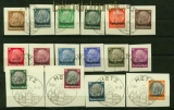 dt. Besetzung 2. WK Lothingen Mi # 1/16 Aufdrucksatz gestempelt auf Briefstücke (42196)