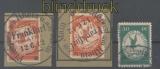 dt. Reich Mi # I/III Flugpostmarken gestempelt (44421)
