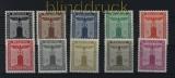 dt. Reich Dienst Mi # 144/154 mit Wasserzeichen postfrisch (29768)